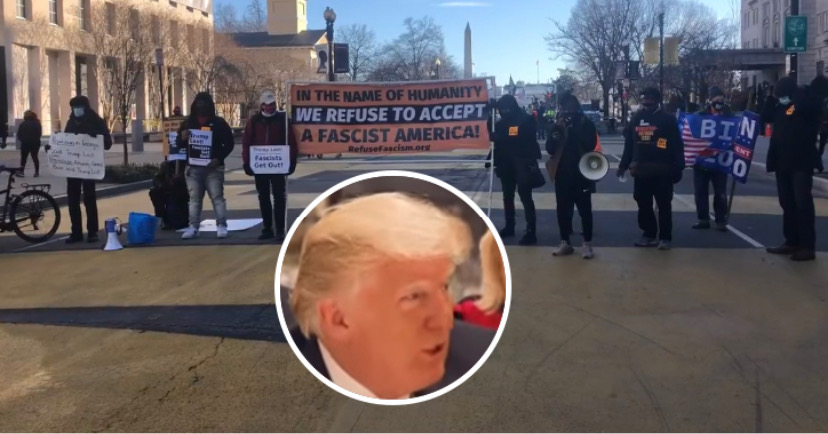 'Refuse Fascism DC' Holds Rally and Press Conference in BLM Plaza Calling for Trump's Removal as President - Media Right News